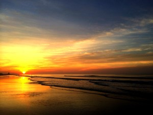 Sunset Over TopSail Island