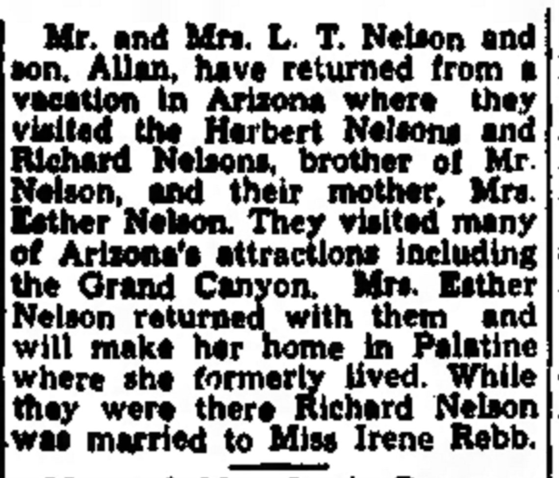 Irene Rebb and Richard Nelson Married
