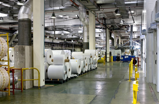 Paper Press in Factory