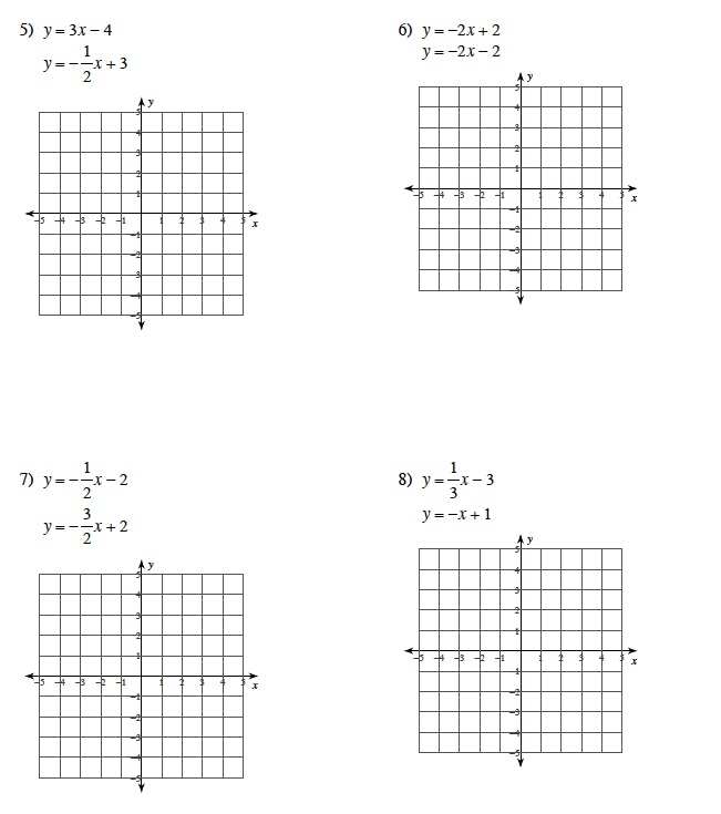 Solving Systems Of Equations By Graphing Worksheet Answer