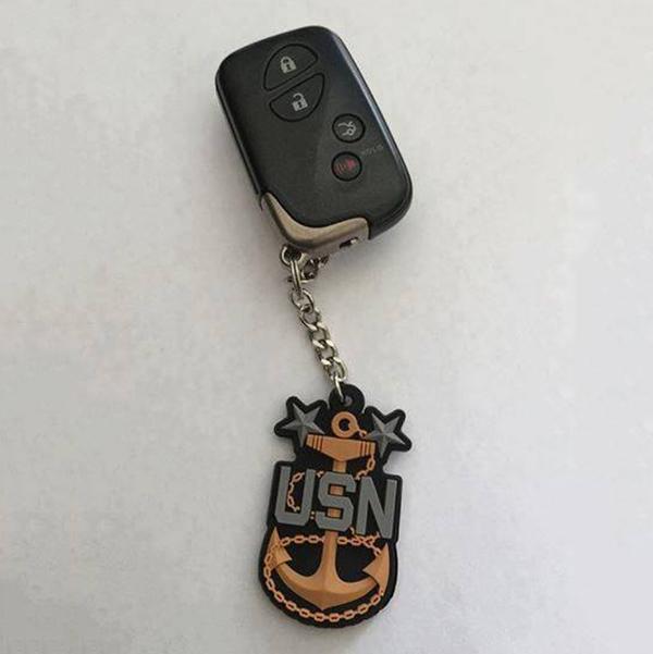 2 Inch PVC Anchor Keychain