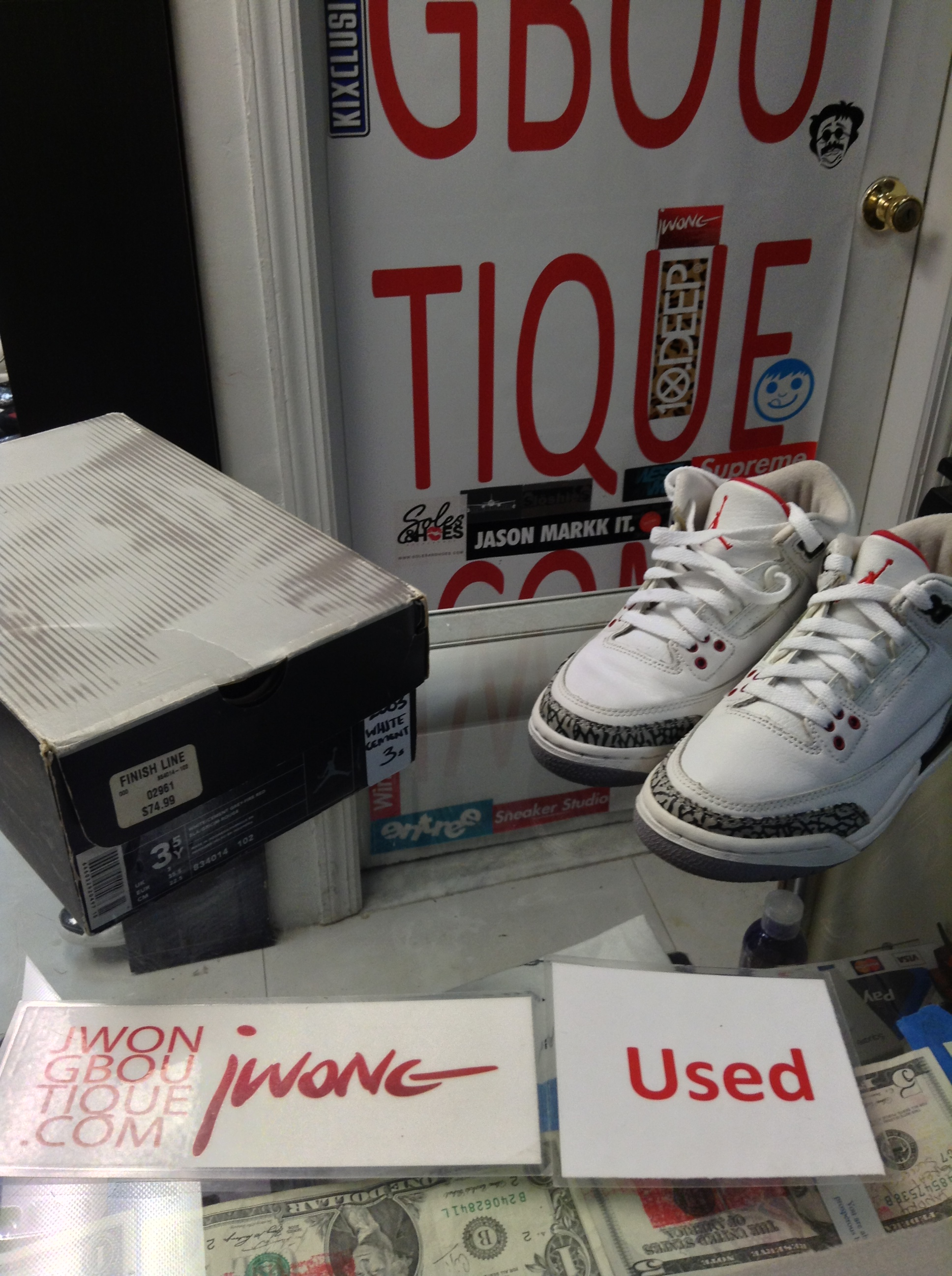 the latest 4e6ca 88620 2003 Nike Air Jordan III White Cement