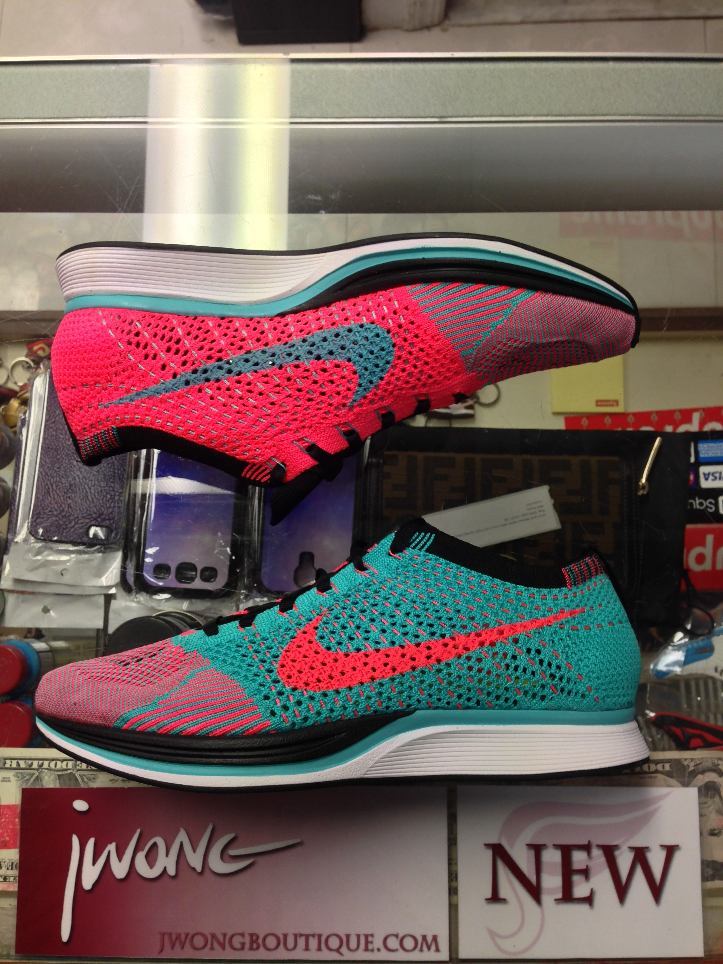 check out 9d38e ad05a ... where can i buy 2014 nike flyknit racer hyper jade hyper punch half box  65102 ec39b