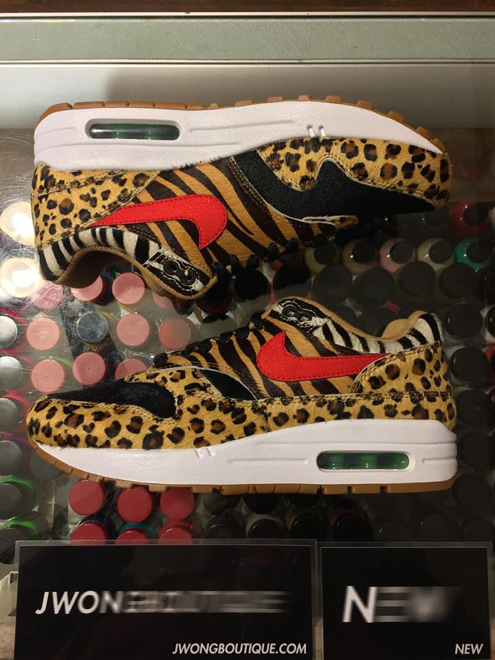 check out 3f78e f89a9 2018 Nike Air Max 1 Safari Atmos Animal Men