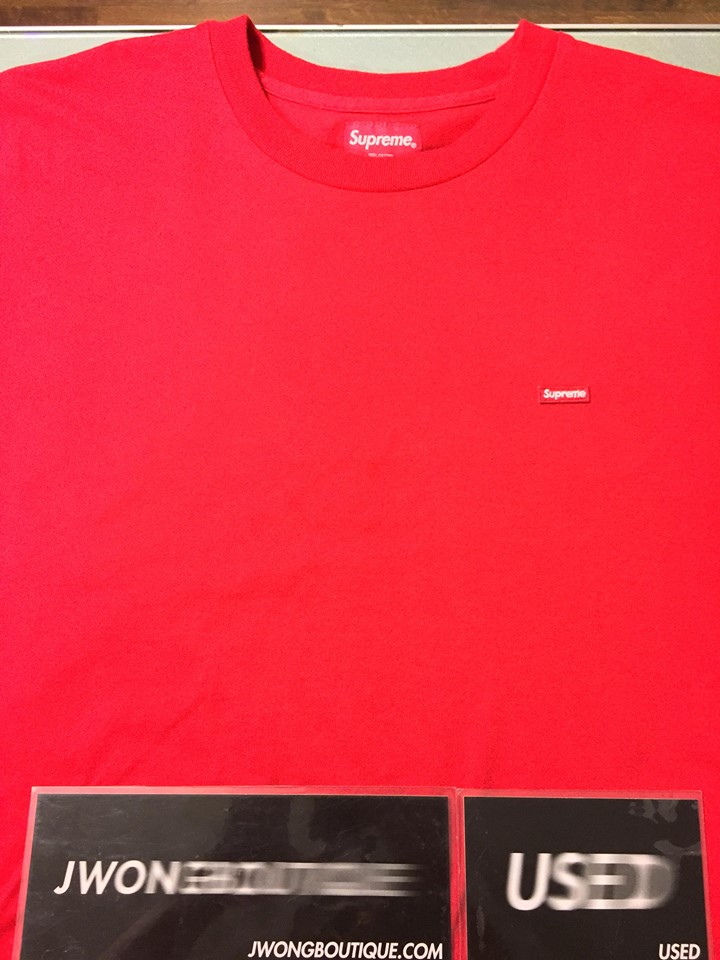 2f44a7093ad7 2018 Supreme Small Box Logo Tee Red | Jwong Boutique