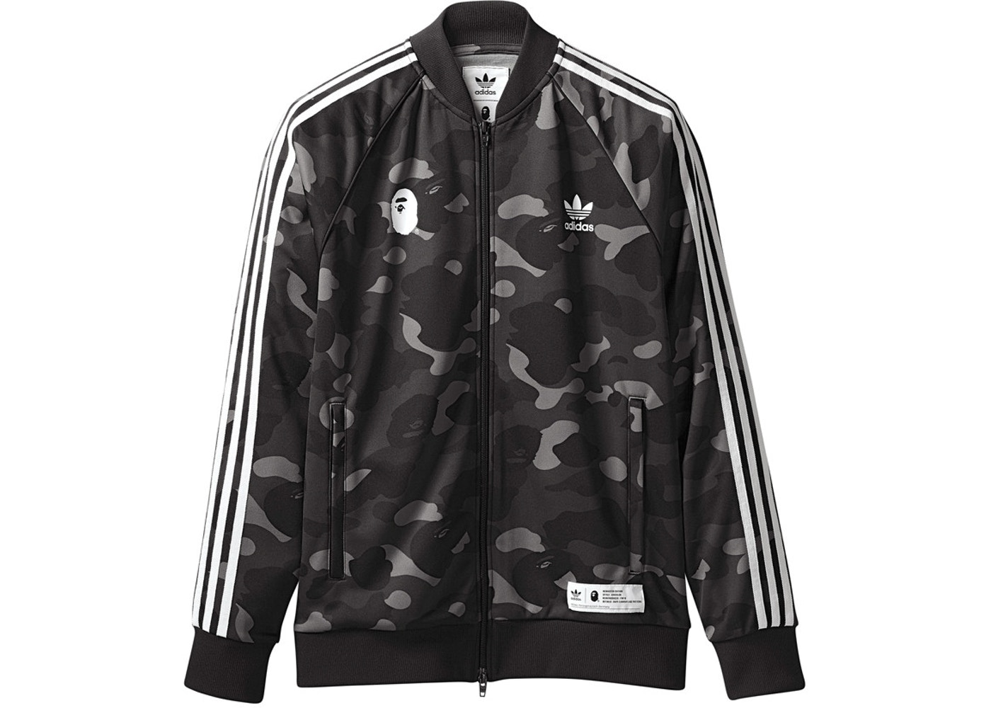 Adidas Bape Jacket Men Style Year of Clean Water