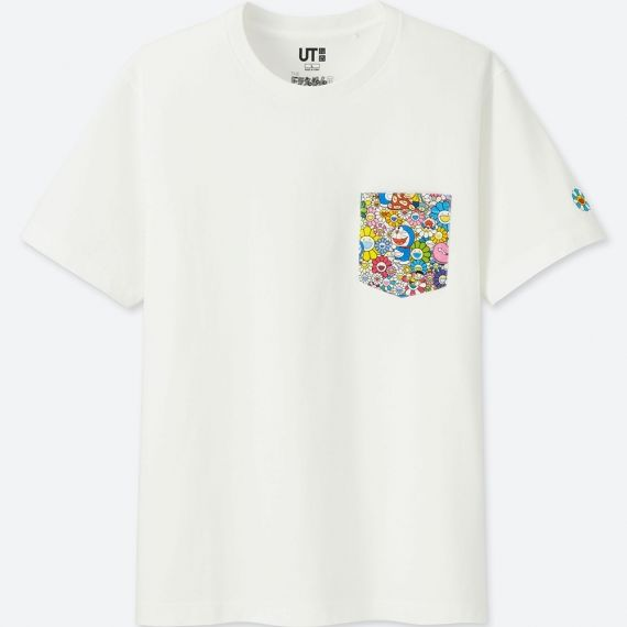 2018 Takashi Murakami Uniqlo Doraemon Pocket Tee White