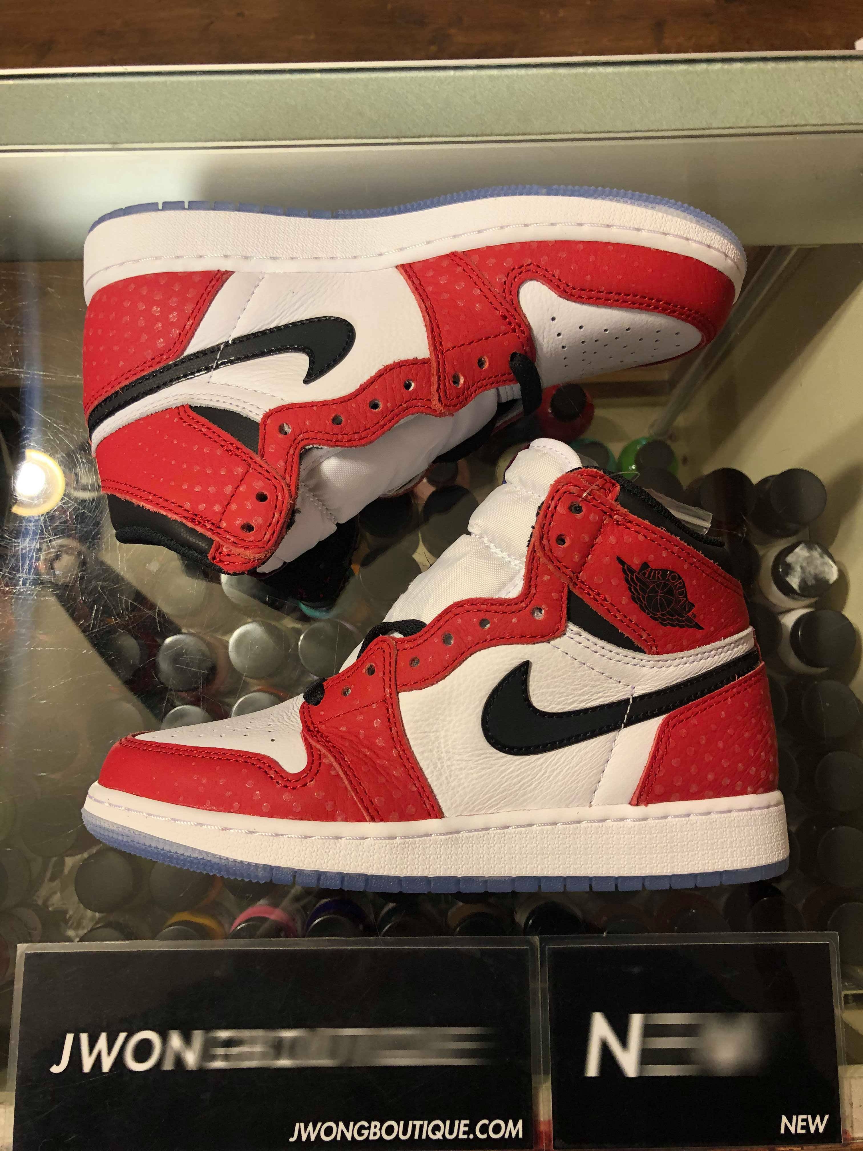 uk availability 69049 5b6cc 2018 Nike Air Jordan 1 Retro High Spider Man Origin Story Youth