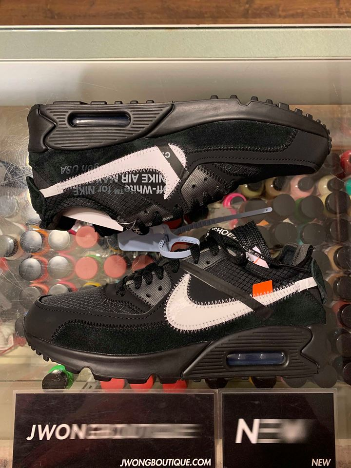 2019 Nike The 10 Off White Air Max 90 Black Men Jwong Boutique