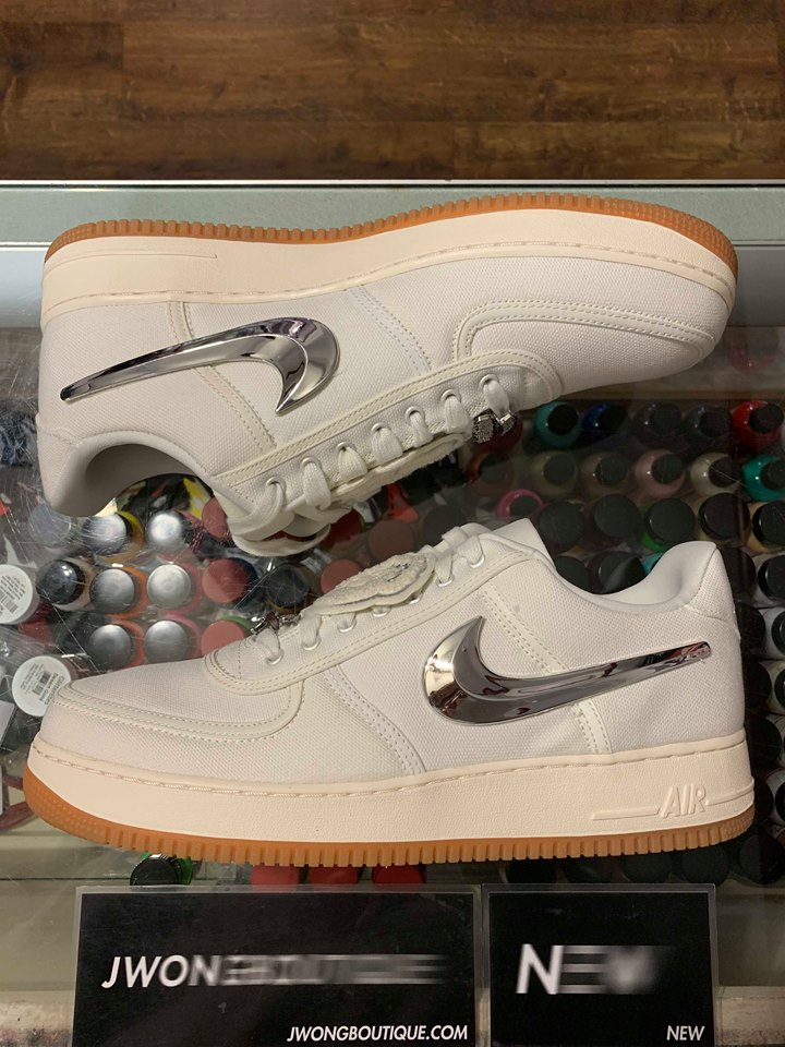 2018 Nike Air Force 1 Low Travis Scott Sail Men