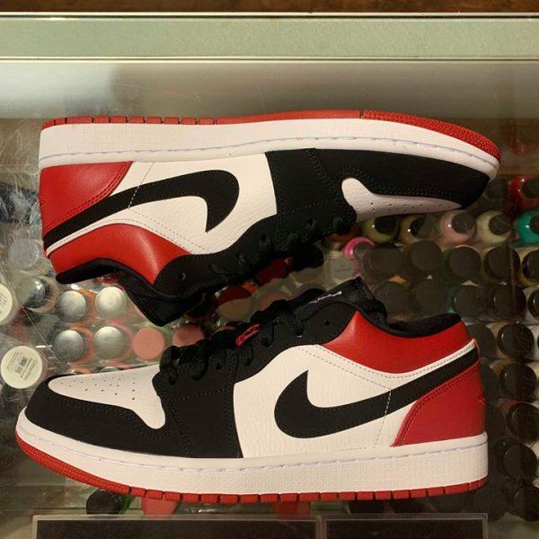 best sneakers 282bc 90d27 2019 Nike Air Jordan I Low Black Toe Men   Jwong Boutique