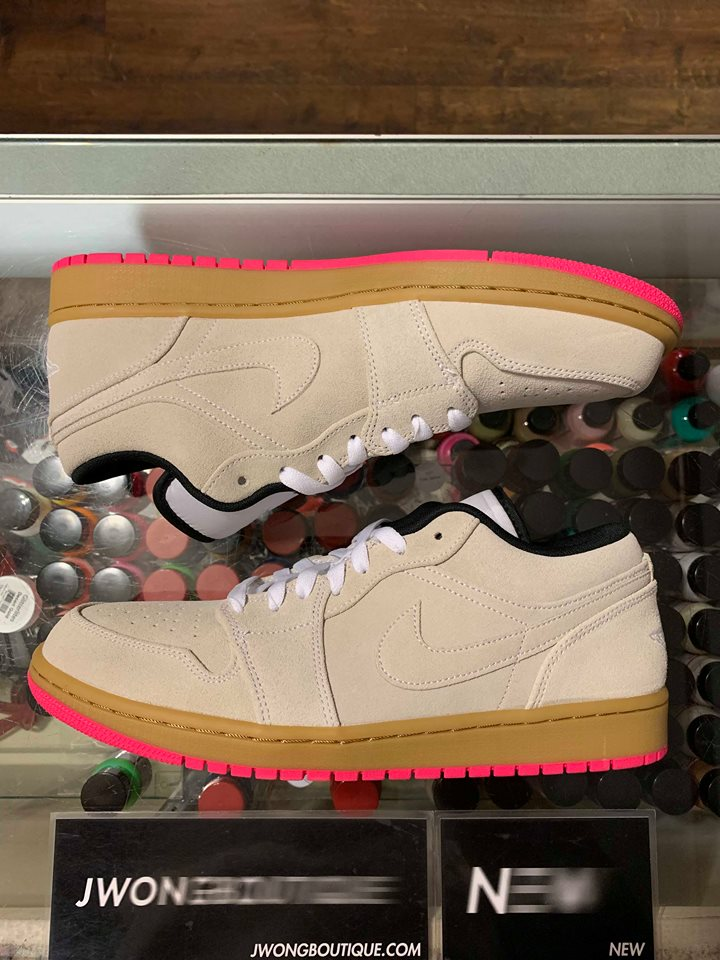 8560d2c666f 2019 Nike Air Jordan I Low White Gum Hyper Pink Men | Jwong Boutique