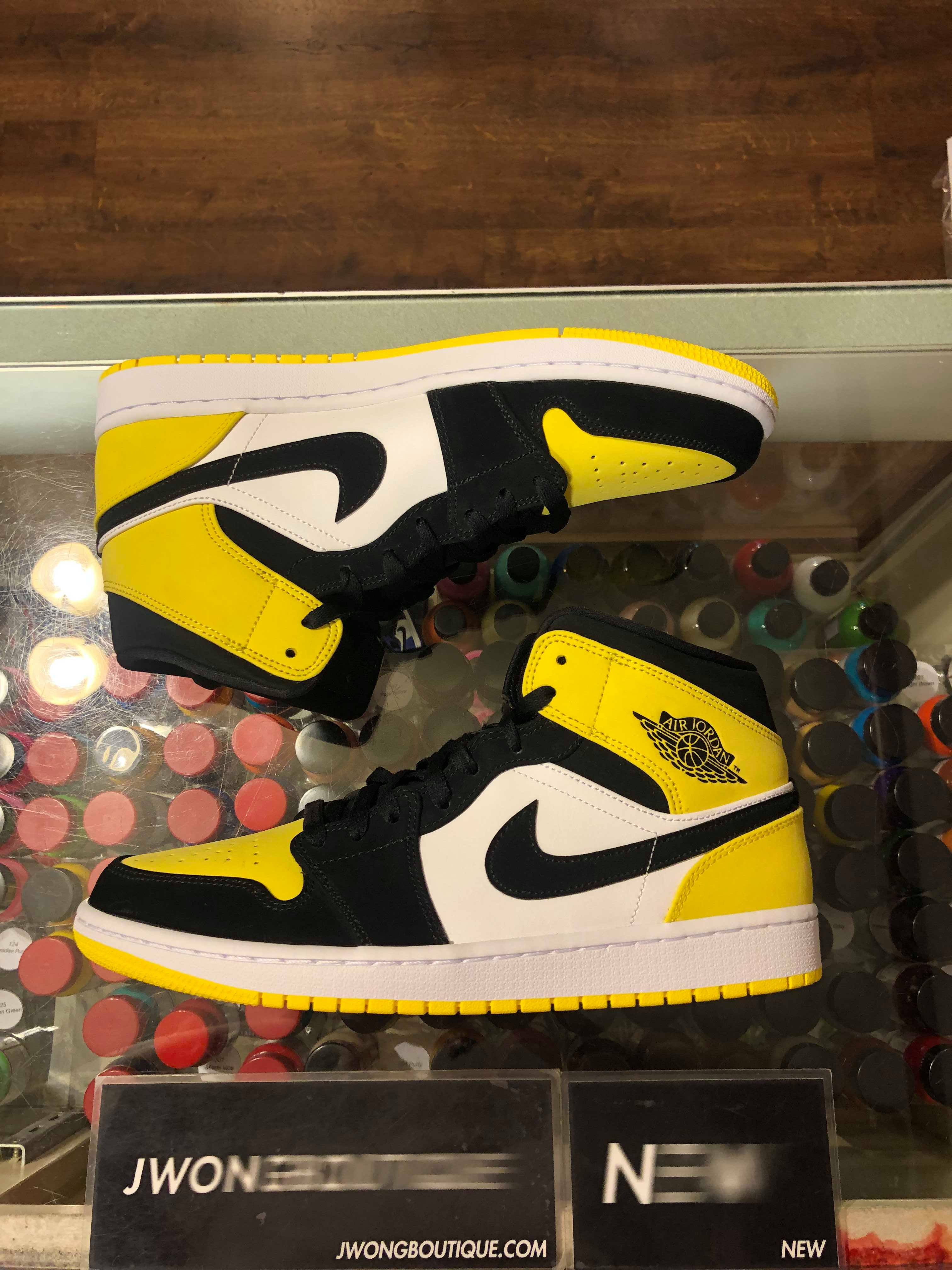 6f511c9bf47a1 2019 Nike Air Jordan I Mid Yellow Toe Black | Jwong Boutique