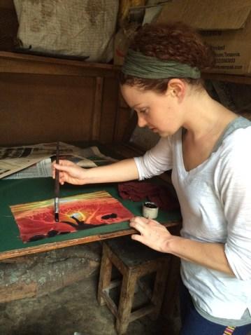 Learning Batik in Tanzania!