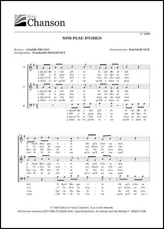 Aristide Bruant Nini Peau D'chien : aristide, bruant, d'chien, D'chien, Aristide, Bruant, Pepper, Sheet, Music
