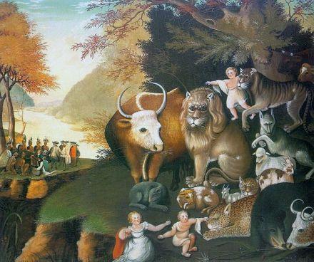 Peaceable Kingdom Hicks, Edward, 1780-1849 National Gallery of Art Washington, D.C. USA