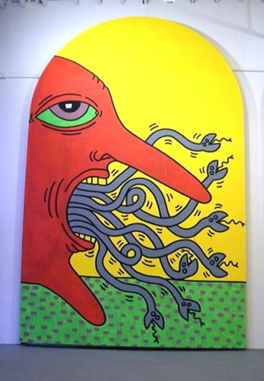 Ten Commandments, unnumbered Haring, Keith painting,1985 New York, NY, United States