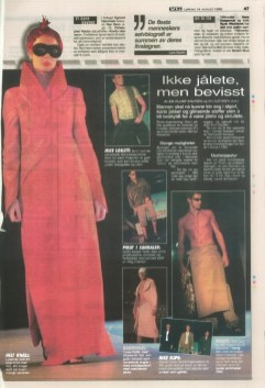 oslo mens collections show VG 1999