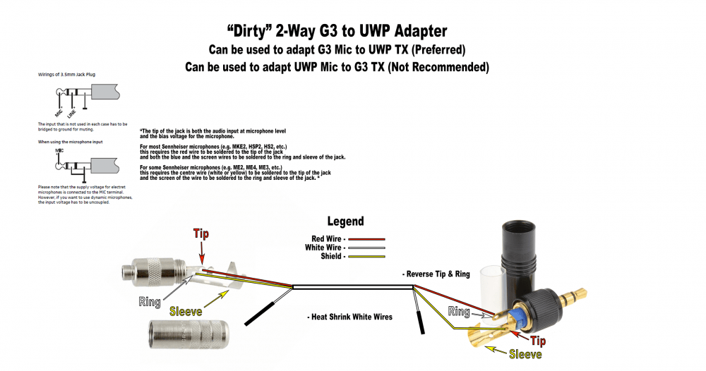3 5 Microphone Wiring Diagrams Adapting Sennheiser G3 Wired Mics For Use With Sony Uwps