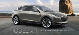 The Model X, a sleek crossover SUV. (Tesla Motors)