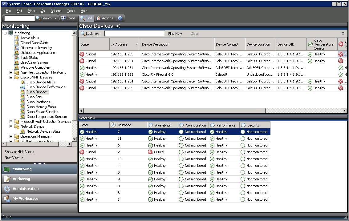 SCOM: Advanced SNMP Monitoring Part III: The Completed Cisco