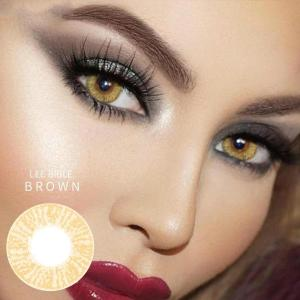 Brown Contact Lenses Big Eyes With Light Lazel Colored Natural Look Beauty Pupil Halloween Cosplay Fashion Makeup Lens