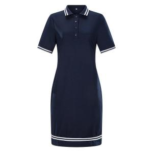 Women Polo Dress Sport Loose Women Short Sleeves Turn-down Collar Graphic Stretchy Casual Polo Women Summer Casual Shirt Dress