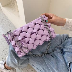 Women Purses and Handbags Luxury Clutches Shoulder Bags For Women 2020 Designer Bag Leather  Crossbody Bag Metal Chain