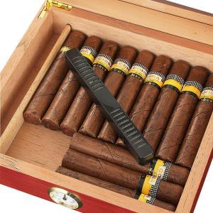 Cedar Wood Travel Cigar Humidor Box With Humidifier Hygrometer Humidor Cigar Box Case Glass Humidors Fit 20-30 COHIBA Cigars