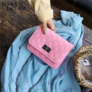 Mara's Dream Bag 2019 New Rhombic Chain Small Square Bag Shoulder Messenger Bag Fashion Lock Buckle Handbag Mini Bag