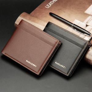 Men Leather Wallets Brand Luxury Short Slim Vintage Male Purses Money Clip Business Credit Card Dollars Portomonee Carteria