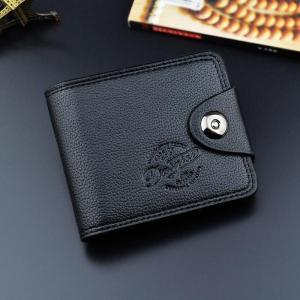 Hot Selling Fashion Men's Wallet European and American Magnetic Buckle Multifunctional Short Wallet Men Standard Wallets PU