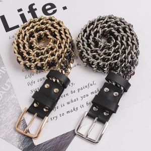 CETIRI Luxury Brand Chian Belts For Women Charm Metal Buckle Statement Belts Female Romantic Waist Party Punk Belt