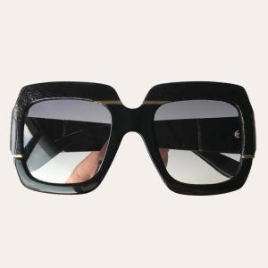 Snakeskin Pattern Big Sunglasses Women Men Square Frame Vintage Brand Sun Glasses gafas de sol hombre