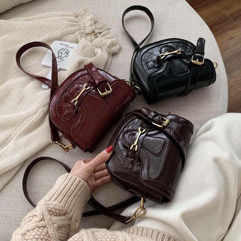 Female Thread Small Leather Crossbody Bags For Women 2020 Luxury Handbags Designer Sac A Main Ladies Hand Shoulder Messenger Bag