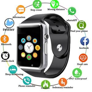 A1 WristWatch Bluetooth Smart Watch Full Touch Screen Pedometer Bracelet With SIM Camera Smart Watch For Apple IOS Android eh#