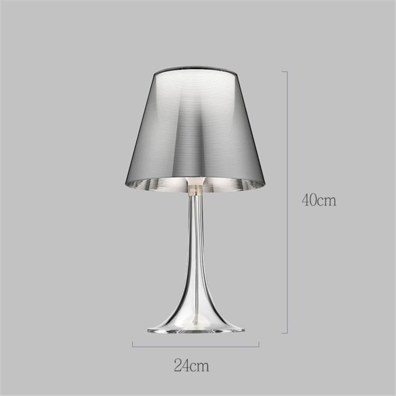 Italy Simple Modern LED Table Lamp Acrylic Colorful Table Lamp Living Room Bedroom Bedside Office Table Reading Lamp