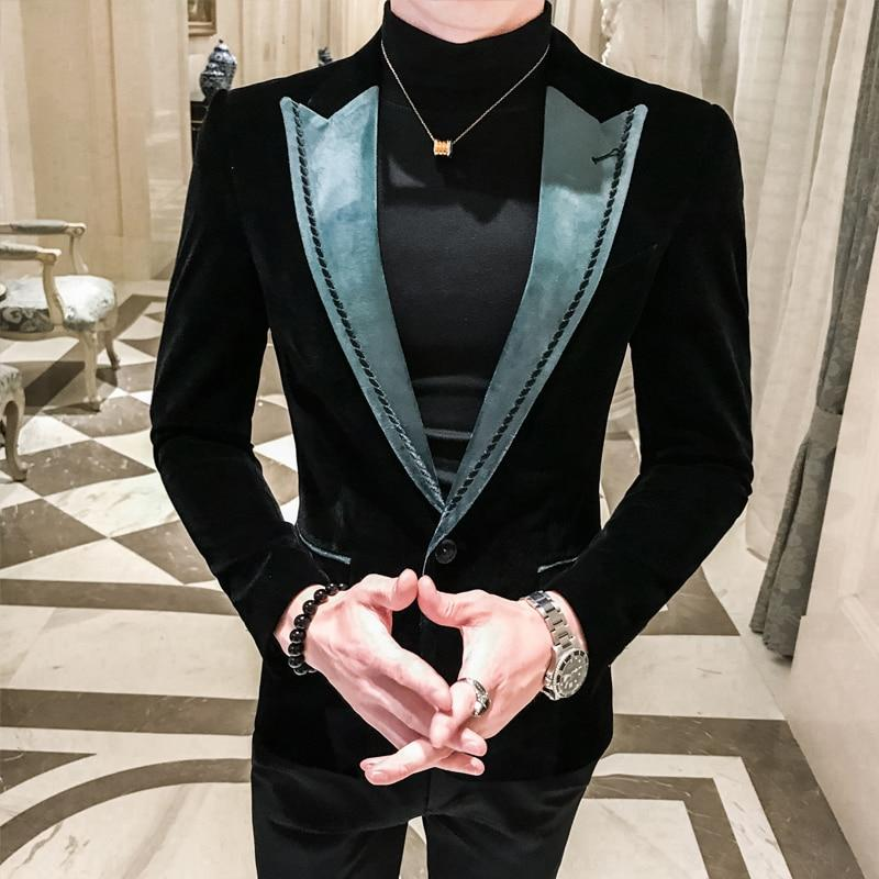 Blazer Masculino Slim Fit Man Self-cultivation Leisure Time Tide Blazer Hombre Business Affairs Suit Small Man's Suit Loose Coat