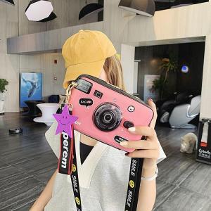 Retro Funny Women Leather Shoulder Messenger Cross Body Bag Camera Shaped Handbag Shopping Tote Bolsa Mujer Small Zipper 2019