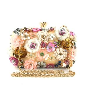 Colorful Flower Purse Evening Bags Women Formal Party Wedding Prom Cocktail Party Handbags Best Sale-WT