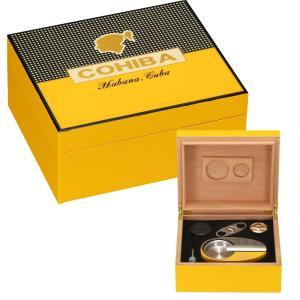 CONIBA Cigar Humidor Cedar Wood Humidor Box W/ Smoking Accessories Ashtray Hygrometer Humidifier Cutter For Cigars Box