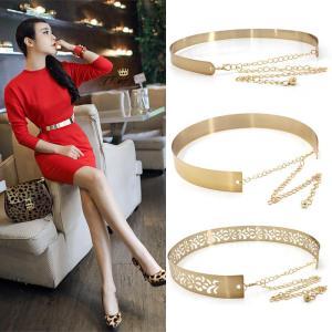 Hot Designer Women Belts for Woman Gold Silver Brand Belt Classy Elastic Ceinture Femme 6 Color Belt Ladies Apparel Accessory