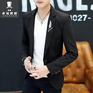 HO 2020 male Cultivate one's morality fashion handsome printing a thin blazer Autumn new youth single blazer