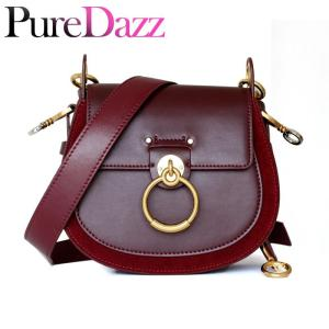 Luxury Women Bag For 2018 Designer Brand Saddle Bag Leather Ladies Crossbody Bag Fashion Ring Shoulder Bag Vintage Handbag