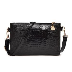 HTNBO new Women Fashion Handbag Crocodile Pattern Shoulder Bag Small Tote Ladies Purse bags for women 2019 #F