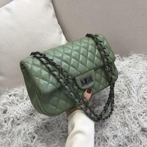 2019 new women bags crossbody bags pu leather luxury designer handbags Fashion diamond  lattice  elegant style chain retro