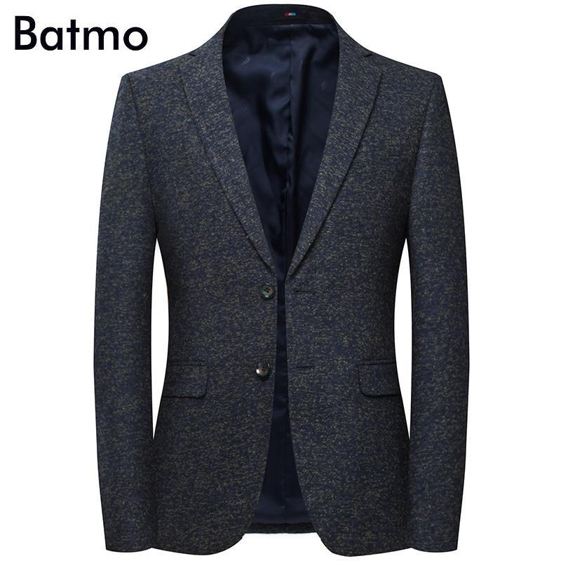 Batmo 2019 new arrival high quality cotton casual gray blazer men,men's suits jackets ,casual jackets men 8157