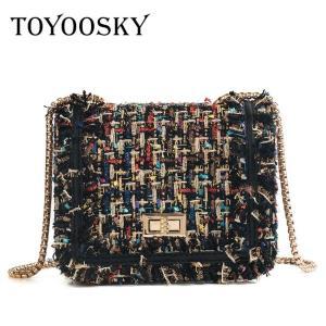 TOYOOSKY Brand Crossbody Bags For Women 2020 Winter Luxury Handbags Designer Small Women Messenger Bags Wool bolsa feminina