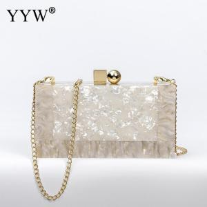 Box Clutch Luxury Handbags Women Bgas Designer Messenger Beach Travel Summer Acrylic Hand Bags Marbling white Acrylic Purse