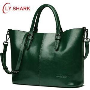 LY.SHARK Green handbags women genuine leather bag women shoulder bag female messenger crossbody bag for women composite bag red
